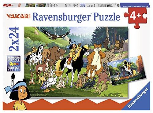 Ravensburger 07807 - Yakaris tierische Freunde Kinderpuzzle, 2 x 24 Teile