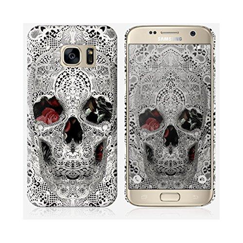 Cover Samsung Galaxy S7di in skinkin-Design originale: Lace Skull 2da Ali Gulec