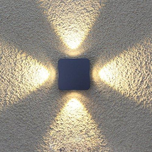 GBYZHMH Außen-Wandleuchte Outdoor Wandleuchte/Hotel von außen LED Wasserdicht Wand Licht/Terrasse Balkon Garten Licht/symmetrische Spotlight