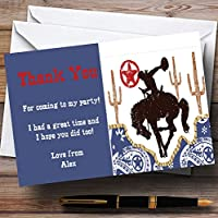 Rodeo Cowboy Personalised Birthday Party Thank You Cards