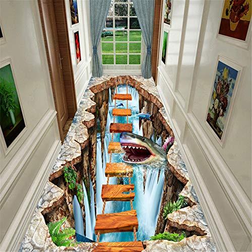 JLCP Pasillo 3D Pasillo Corredor Alfombra, Tiburón Submarino Cocina Alfombras del área del Hotel Escaleras...