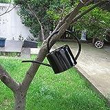 NACHEN Wasserflasche Galvanisiertes Metall Wasser Junction Tank Wasserkocher Iron Garden 1.7L , black