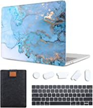 MAITTAO Case For MacBook Pro 16 inch 2019 Release A2141, Plastic Pattern Hard Shell & Laptop Sleeve Bag & Keyboard Cover For Mac Pro 16-inch Retina Touch Bar & ID 4 in 1 Bundle, Marble 9