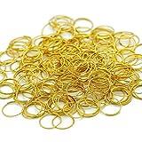 H y D 500unidades redondo filo Split anillo circular Clips para cortina de cristal, lámparas de cristal, guirnalda de cristal, collares, llaves, pendientes, joyería Making y Craft Ideas