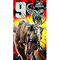 JURASSIC WORLD JW003 Age 9 Birthday Card