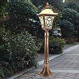 AXWT Lampada da terra, lampada da terra vittoriana - Lampada da terra Lanterna a pilastro Illuminazione in alluminio antiruggine in alluminio Villa vintage Veranda Veranda Illuminazione stradale Ingre