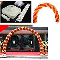 BOGUANG 3.5x 2.7M Balloon Arch Stand Pot Kit Clip Wedding Party (blanco)