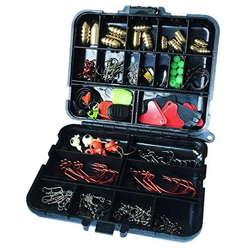 Docooler 20 tipi 128pcs pesca accessori ami da pesca girevoli peso sinker pesca con scatola pesca