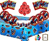 Marvel Spiderman Party Supplies Kindergeburtstag Geschirr Spiderman Dekorationen für 16- Spiderman Platten Latex Luftballons Free Fotorahmen & Ballon