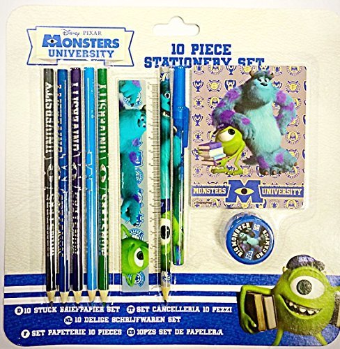 Unbekannt Shop inc Disney Pixar, Monsters Inc. 10 Stück Schreibset