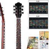 Autocollant avec touches et notes pour guitare électrique et acoustique à 6 cordes, pour débutant et apprenant, répétition, pour le manche complet jusqu'à 24 frettes