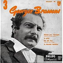 Philips 432.067 - Georges Brassens - N°3 - Original de Février 1956 (et non pas réédition) : Chanson pour l'Auvergnat, La prière, Une jolie fleur, La mauvaise réputation - (Disque vinyle EP 45t)