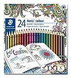 Staedtler Noris colour 185 C24JB Buntstifte (erhöhte Spitzen-Bruchfestigkeit, sechskant, Set mit 24 brillanten Farben, Wopex Material, PEFC-Holz, DIN EN71)