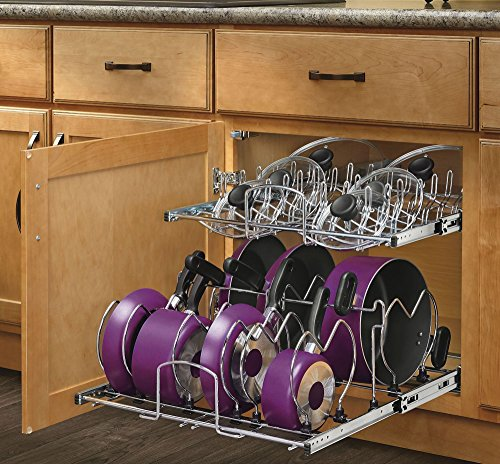 Rev-A-Shelf 5CW2-2122-CR - 21 in. Pull-Out 2-Tier Base Cabinet Cookware Organizer