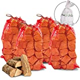 40kg THE CHEMICAL HUT® Quality Seasoned Dried Softwood Logs for Firewood, Pits, Open Fire & Stoves. - Comes with THE LOG HUT® Woven Sack.