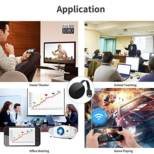 2018 Yehua Wifi Display Dongle HDMI 1080P TV Receiver Adapter Mirroring screen from phone to big screen Support Miracast Airplay DLNA TV Stick for Android  Mac  iOS   Windows