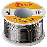 5x Fixpoint Lötzinn 100 g / ø 1,0 mm (insgesamt 500 g); punktgenaues Löten; Erstklassiges Markenlötzinn mit 2% Kupfer