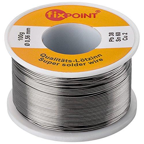 Preisvergleich Produktbild Fixpoint Lötzinn 100 g / ø 1,0 mm; punktgenaues Löten; Erstklassiges Markenlötzinn mit 2% Kupfer