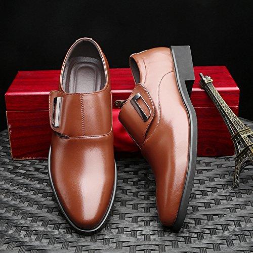 WTUS - Affaires Mocassins pour homme cuir - Loisirs Loafers confort marron2