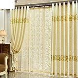 Gardinen,Einfache Wildleder heißen gold Vorhänge Schlafzimmer Wohnzimmer Gardinen-A 250x270cm(98x106inch)