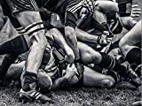 PHOTOGRAPHY SPORT RUGBY FOOTBALL CLOSE UP SCRUM PLAYERS BALL GAME ART POSTER PLAKAT PRINT BMP11100