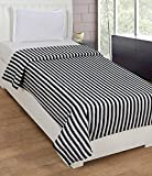 Black and White stripe Single Bed AC Fle...