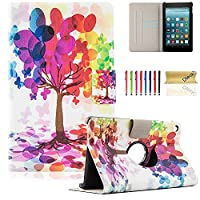 Fire 7 Case, Dteck(TM) Slim Fit Lightweight Flip Stand Leather Case Kids Friendly Protective Cover for Amazon Kindle Fire 7