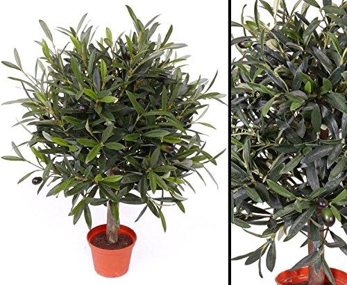 Olivenbäumchen, 35cm, 1040 Blätter und 18 Oliven - Kunstpflanzen Kunstbaum