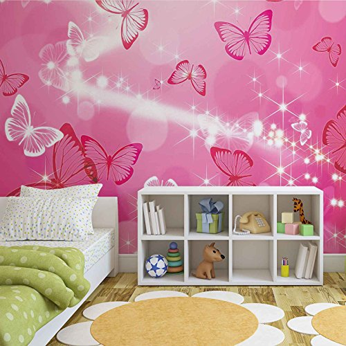 Schmetterlinge - Wallsticker Warehouse - Fototapete - Tapete - Fotomural - Mural Wandbild - (332WM) - XXXL - 416cm x 254cm - VLIES...