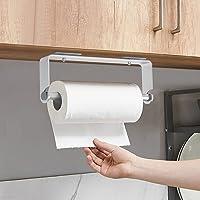 Supports pour Papier Essuie-Tout en Aluminium, Auto-adhésif Porte-Papier de Cuisine fixé au Mur, Aluminium, Finition Mat…