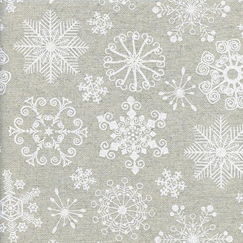 Tela Maravillas invierno - tela Navidad copos nieve