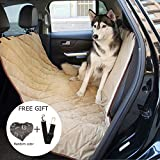Pawow Deluxe Large Pet Dog Cat Backseat Cover Mat Travel Hammock for Cars, Trucks, SUVs - Waterproof, Washable and Non-slip with A Free Pet Car Safety