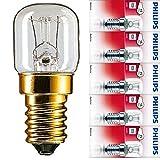 Philips 5x Backofenlampe 15W 230V E14 SES 49x22mm 2700K EEK=E [Energieklasse E] (5 Stück)