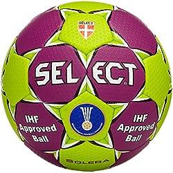 Select Solera - Balón de balonmano, color lila y verde morado Lila/Grün Talla:3