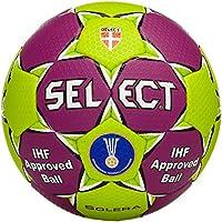 Select Solera - Pelota de balonmano, Morado/Verde, 3