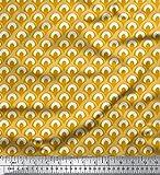 Soimoi Gold Kunstseide Stoff marokkanisch Damast Drucken