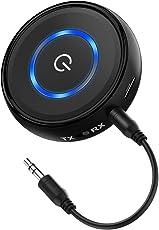HiGoing Bluetooth 4.1 Transmitter Empfänger, Tragbarer kabelloser Bluetooth Receiver 2 in 1 Adapter 14 Stunden Spielzeit 3,5mm Audio Geräte für TV, PC, Kopfhörer, Heim Stereoanlage und Auto Soundsysteme etc