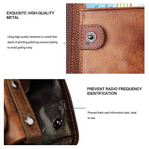 7a12cbe4f45c3 Test Hibate Leder Herren Geldbörse mit RFID Schutz