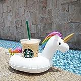 P2L - Bicchiere di Plastica Porta Unicorn, Può, Vetro, Soda, Birra, Bevanda, ideali per il mobile piscina galleggiante, vasca da bagno, doccia, giochi d'acqua per adulti e bambini