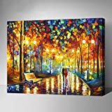 MADE4U Paint By Numbers Kit Canvas Mounted on Wood Frame with Brushes and Paints for Adults Children Seniors Junior DIY Beginner Level Acrylics Painting Kits on Canvas (The Road With You, G444)