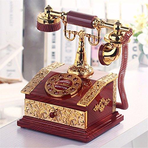 tagsgeschenk Musical Mechanism Klassik Turn Dial Telefon Model Dekorationen Spieluhren Red Classic Retro Spieldose Dekoration 15 * 13 * 22Cm (Wirren, Geburtstag Dekorationen)