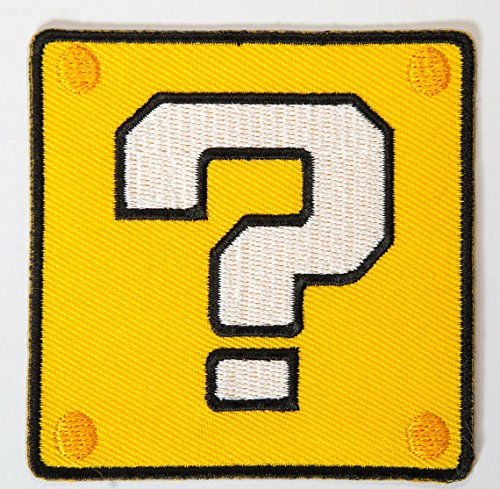 Brothers Mario Toad Kostüm - Medaille Block? Patch Embroidered Iron on Badge Aufnäher Kostüm Mario Kart/SNES/Mario World/Super Mario Brothers/Mario Allstars Cosplay