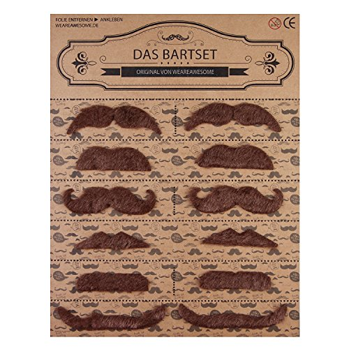 Preisvergleich Produktbild WeAreAwesome Das Bartset - Set 7 – Bärte zum Ankleben