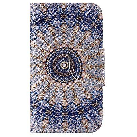 Chreey Coque Apple Iphone 4 / 4S (3.5 pouces) ,PU Cuir Portefeuille Etui Housse Case Cover ,carte de crédit pour , serrures magnétiques, support pliable, idéal pour protéger votre téléphone