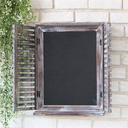 SU@DA Madera para hacer la plataforma retro de mensajes creativos para colgar la pizarra vieja pizarra móvil ventana falsa , long 39.5* wide 10*49.5cm