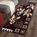 #1: Multicolor classy Modern Look Carpet / Rug / Passage / Floor mat ( 50 x 150 cm ), Vascose , Soft To Touch Best for bedroom / living room / drawing room By The Home Talk (Brown)