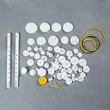 GAOHOU® 75 Stück Kunststoff Zahnräder Getriebe set Zahnrader Roboterteile Zubehör DIY