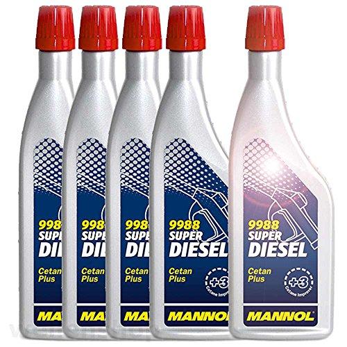 Preisvergleich Produktbild 5 x MANNOL Super Diesel Cetan Plus Additiv 9988 200ml