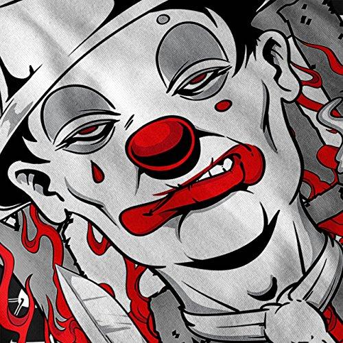 Clown Krawatte Tod Horror Damen S-2XL Langarm-T-Shirt | Wellcoda Black