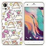 Easbuy Handy Hülle Soft TPU Silikon Case Etui Tasche für HTC Desire 10 Pro Smartphone Bumper Cover Handytasche Handyhülle Schutzhülle